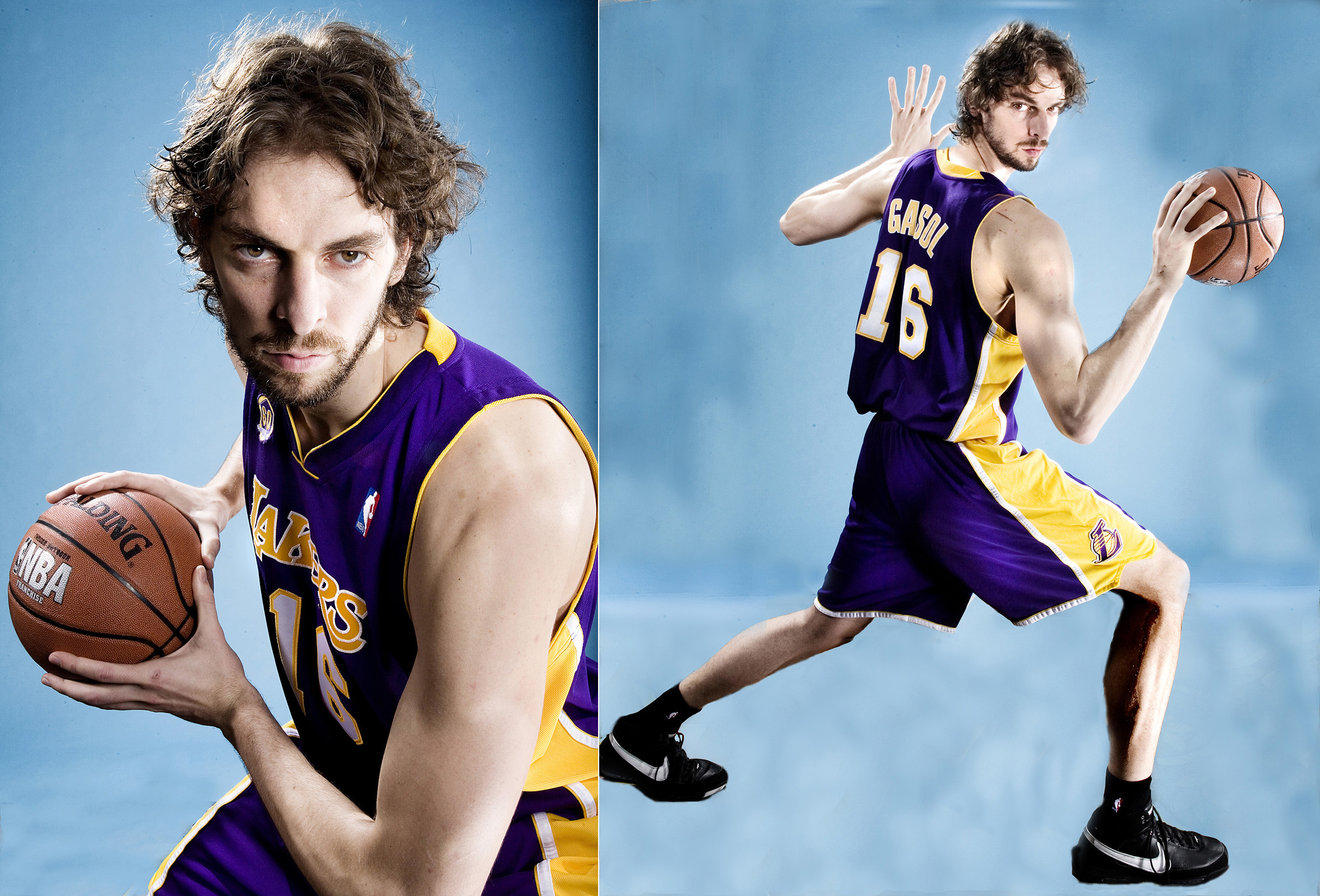 MANUELLO PAGANELLI  Photographer  / PORTRAITS, EDITORIAL, CELEBRITIES / SPORTS , TRAVEL, ADVENTURE / LIFESTYLE, FASHION /MAGAZINE, WORKSHOPS - HOLLYWOOD, SAN FRANCISCO, LOS ANGELES California - PORTRAIT -NBA Spain Pau Gasol