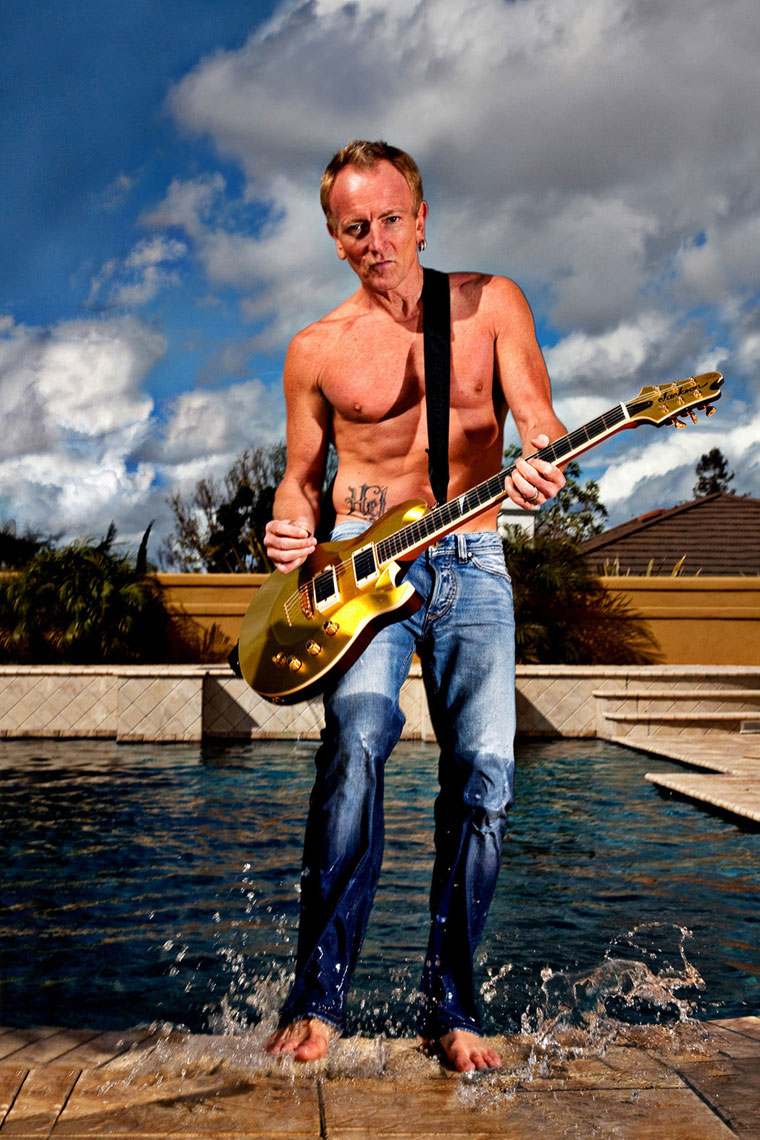 MANUELLO PAGANELLI  Photographer  / PORTRAITS, EDITORIAL, CELEBRITIES / SPORTS , TRAVEL, ADVENTURE / LIFESTYLE, FASHION /MAGAZINE, WORKSHOPS - HOLLYWOOD, SAN FRANCISCO, LOS ANGELES California - PORTRAIT -Def Leppard Phil Collen